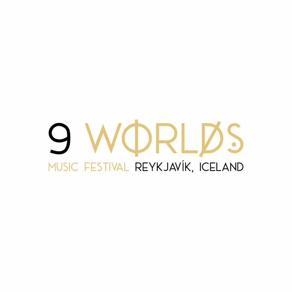 9 worlds music festival logo design iceland