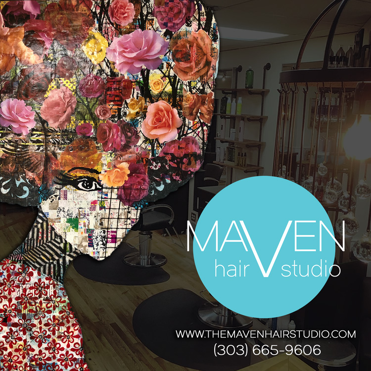 maven hair studio colorado social media design