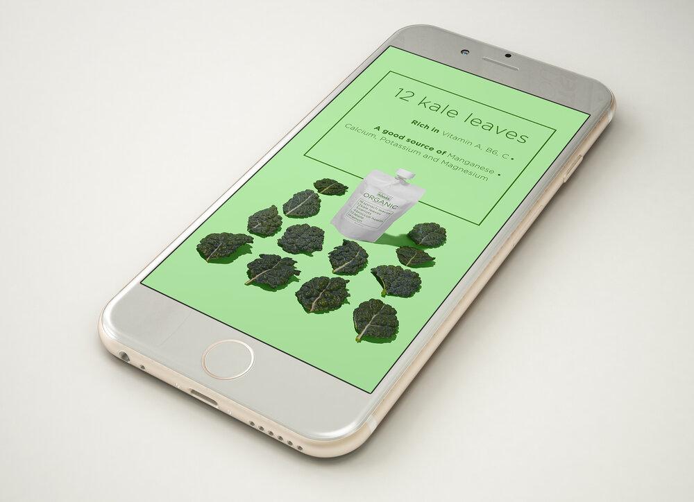 organic drink social media design
