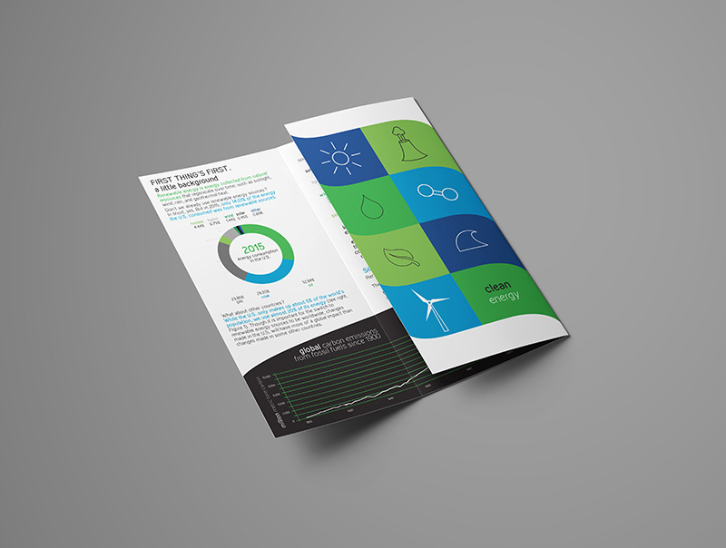 clean energy print brochure design