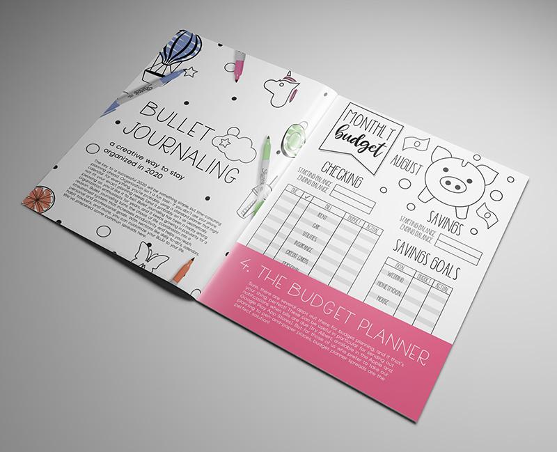 bullet journaling budget planner print design