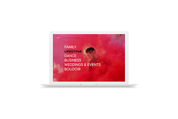 lux photo studio squarespace web design